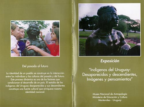 Folleto original de la exposición Indígenas del Uruguay: desparecidos y descendientes,imágenes y pensamientos