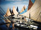 Embarcaciones en el Puerto de Belén sobre el Río Amazona
