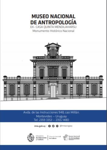Folleto ex casa quinta de la familia Mendilaharsu hoy sede del Museo Nacional de Antropología