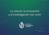grafica campaña la ciencia, la investigación y la innovación nos unen
