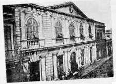 En 1867, el Museo se traslada al primer piso del edificio de la calle Sarandí 472